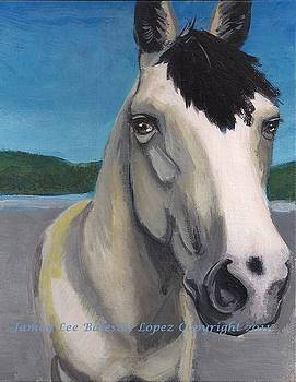 Horse Painting in progress by Jamey Balester