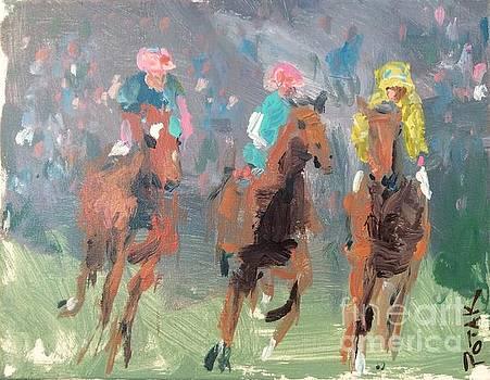Horse Racing  by Russ Potak