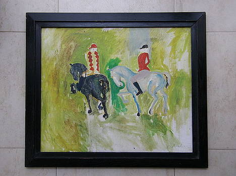 HORSE RIDE IN DULWICH PARK LONDON by BOCKER Jaroslav by Robert Van Moos