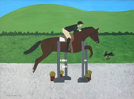 Horse Show At Beebe Farm by Susan Houghton Debus