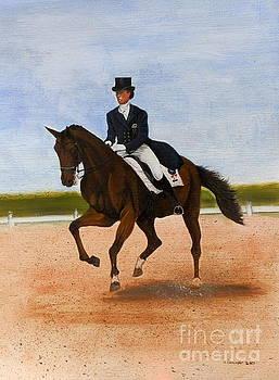 Horse show Royal ride dressage by Gordon Lavender