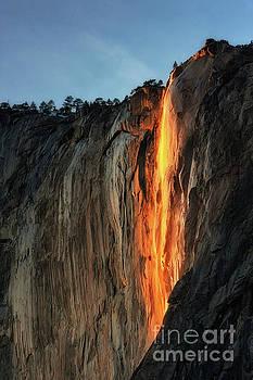 Horse Tail Falls at Sunset by Tibor Vari