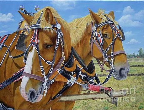 Horse Team by Sid Ball