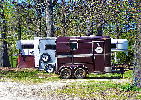 Horse Trailers Parked for Event by Sandi OReilly