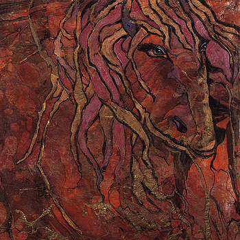 Horse with Gold Mane by Mary DuCharme