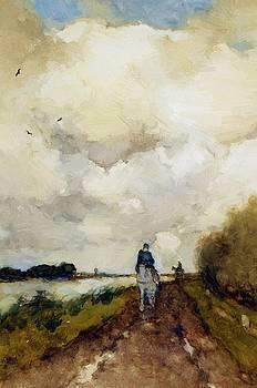 Weissenbruch Johan Hendrik - Horseman On Path Near Noorden
