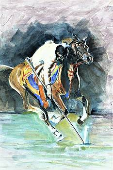 Horseman on the target. by Khalid Saeed
