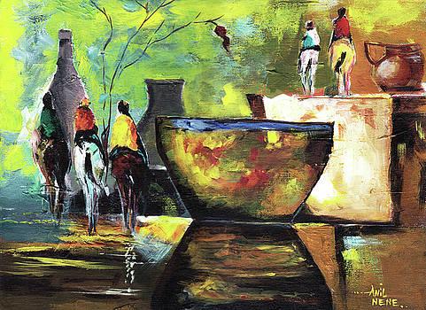 Horsemen by Anil Nene