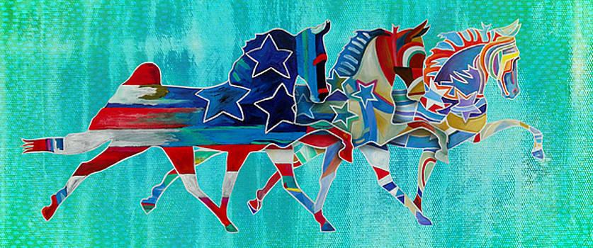 Three Horses  by Gray