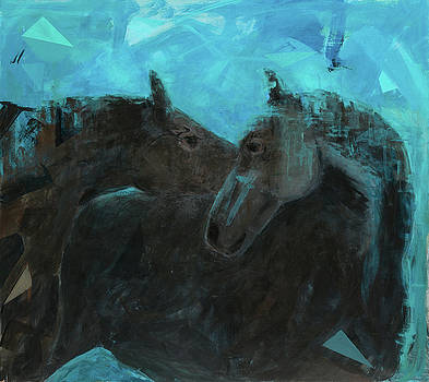 Horses in tranquility by Rita Valdez
