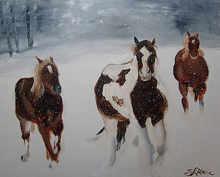 Horses of 3 by Sarah LaRose Kane