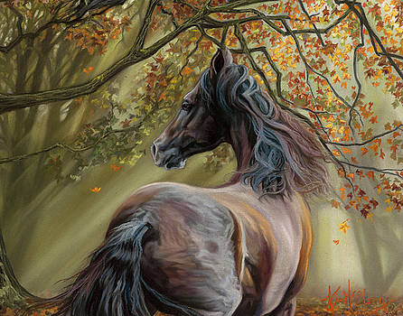Horses of the Four Seasons - Fall by Kim McElroy