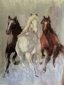 Horses Running by Joan Wulff