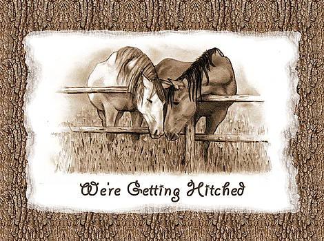 Joyce Geleynse - Horses Western Wedding Invitation Getting Hitched