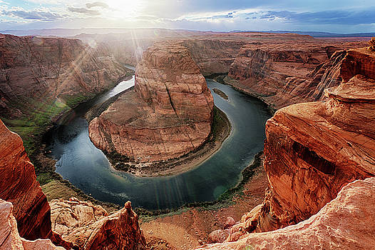 Horseshoe Bend Sunset by George Gilchrist