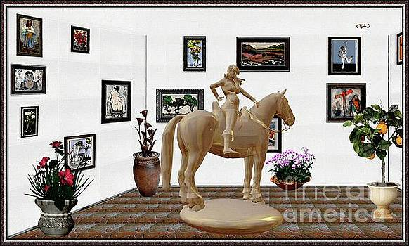 Virtual Exhibition -Statue of Horsewoman 12 by Pemaro