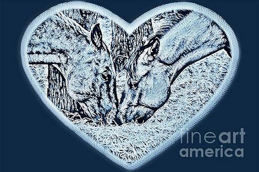 Horsey Love Wintery Colors by Cindy New