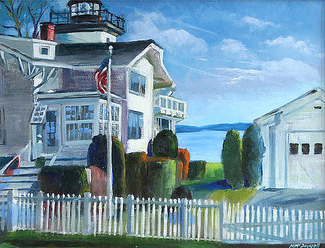 Hospital Point Light  by Michael McDougall