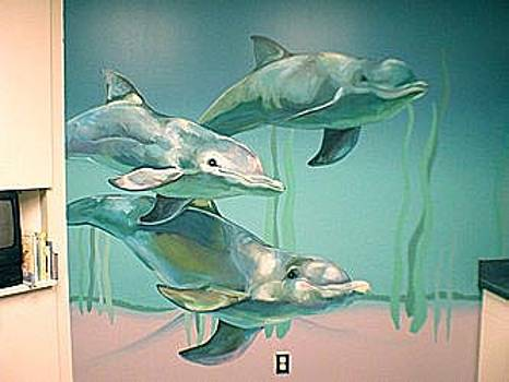 Hospital Underwater Dolphins by Mural Environments