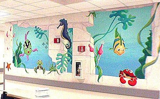 Hospital Underwater Mural by Mural Environments