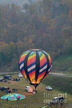 Dan Friend - Hot air balloon getting ready for lift off