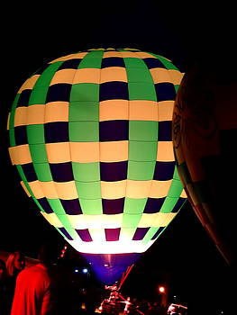 Hot Air Balloon Green Weave by Justin Moore