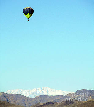 Hot Air Balloon over the Mojave Desert by J Marielle