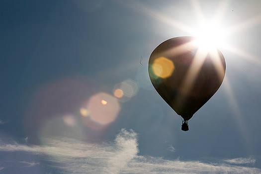 Hot air Balloon sillohutte at sunrise by Jodi Jacobson