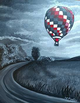 Hot Air Balloon by Tina Mostov