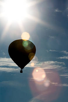 Hot air balloon with lens flaire by Jodi Jacobson