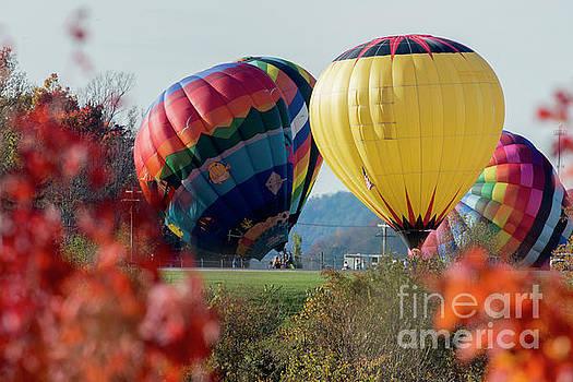 Dan Friend - Hot air balloons lift off