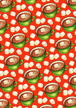 Hot Cocoa Pattern by Kelly Gilleran