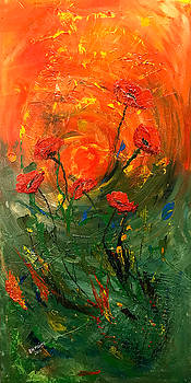 Hot Summer Poppies by Dorothy Maier