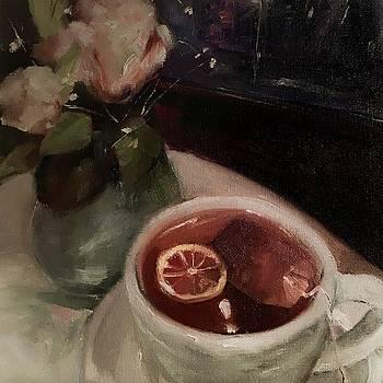 Hot Tea Stilllife by Michele Carter