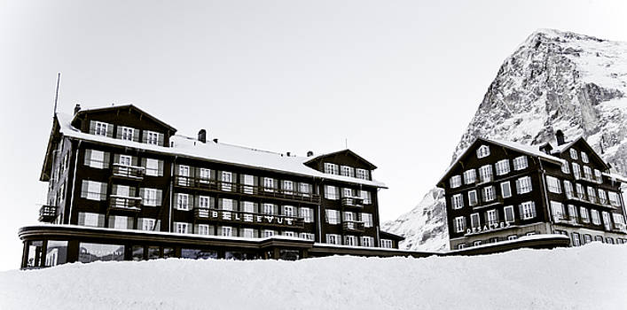 Hotel Bellevue Des Alpes And Eiger Nordwand by Frank Tschakert