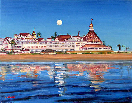 Hotel Del Coronado by Moonlight by Robert Gerdes