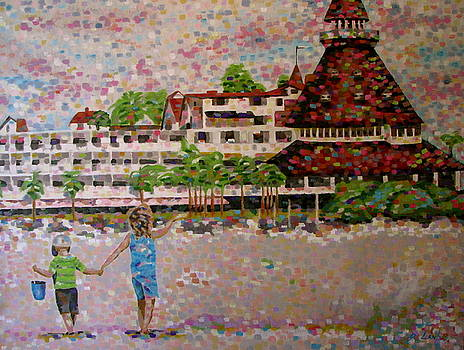 Hotel Del by Denise Landis