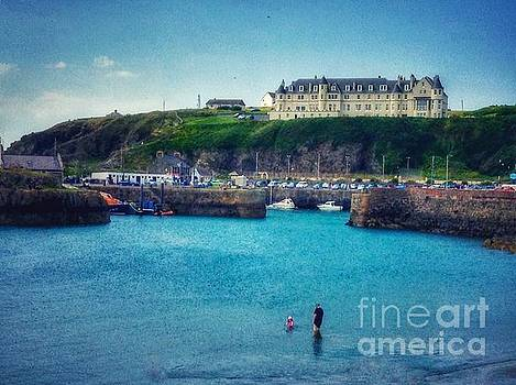 Hotel on The Cliff at Portpatrick by Joan-Violet Stretch