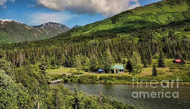 House Alaska Landscape  by Chuck Kuhn