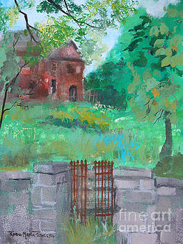 House beyond rusted gate by Robin Maria Pedrero