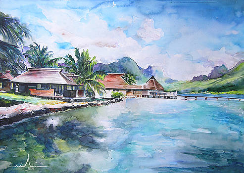 Miki De Goodaboom - House by The Lagoon in French Polynesia