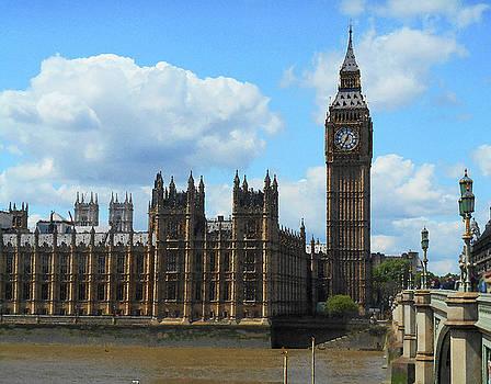 House Of Lords Big Ben Tower London by Irina Sztukowski