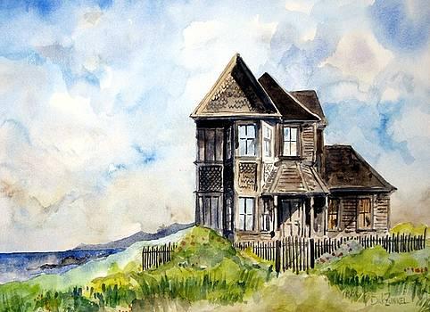 House on Little Lake Street Mendocino by Richard Zunkel