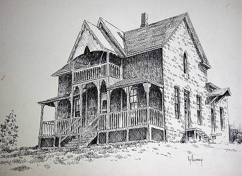 House Virginia City Montana by Kevin Heaney