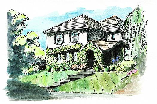 House with Bindweed by Masha Batkova