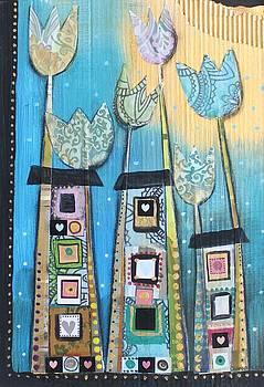 Houses and the moon by Johanna Virtanen