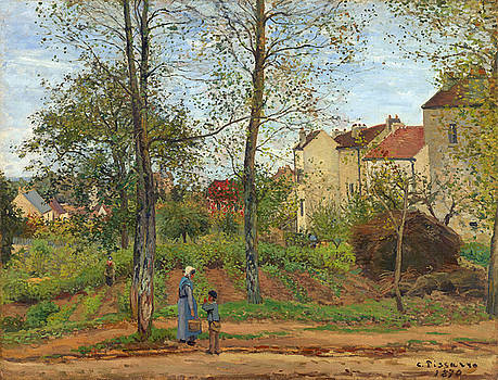 Houses at Bougival  by Bishopston Fine Art