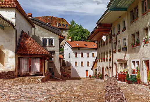 Elenarts - Elena Duvernay photo - Houses in Gruyeres village, Fribourg, Switzerland