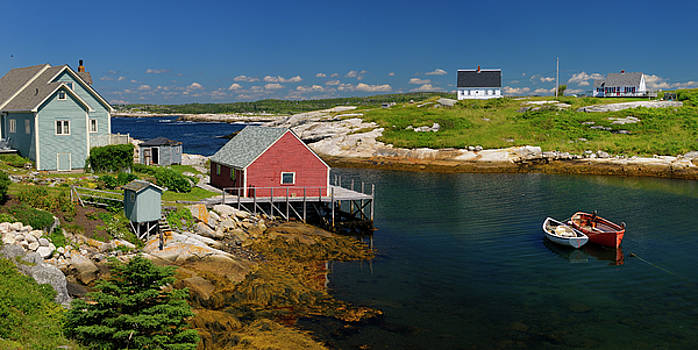 Reimar Gaertner - Houses in the quiet fishing village of Peggys Cove Nova Scotia i