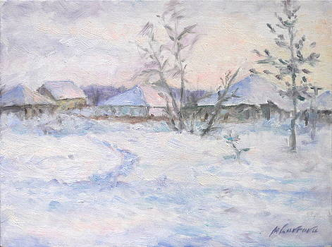 Houses in Winter by Marina Lavrova